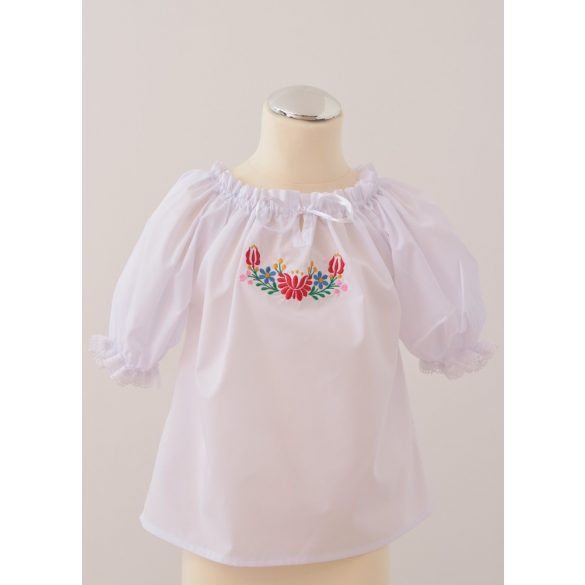 Embroidered little girl blouses