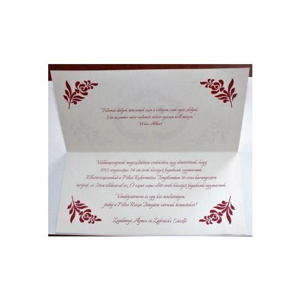 Népmesés esküvői meghívó