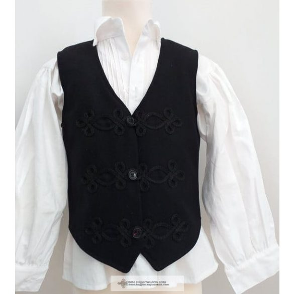 Boy's bocskai vest black