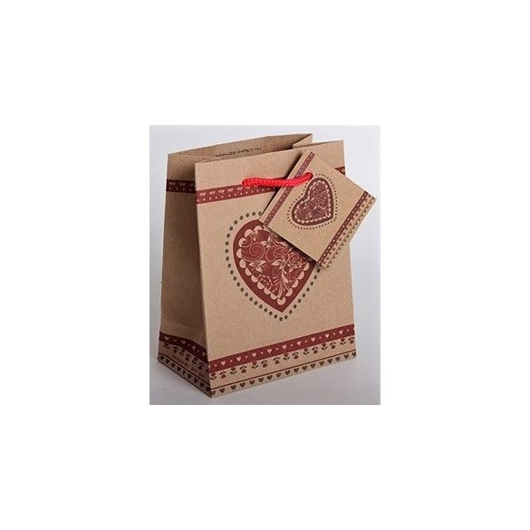 Heart-shaped gift bag