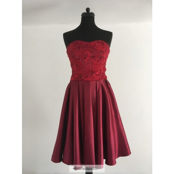 BORDEAUX LACE CASUAL DRESS