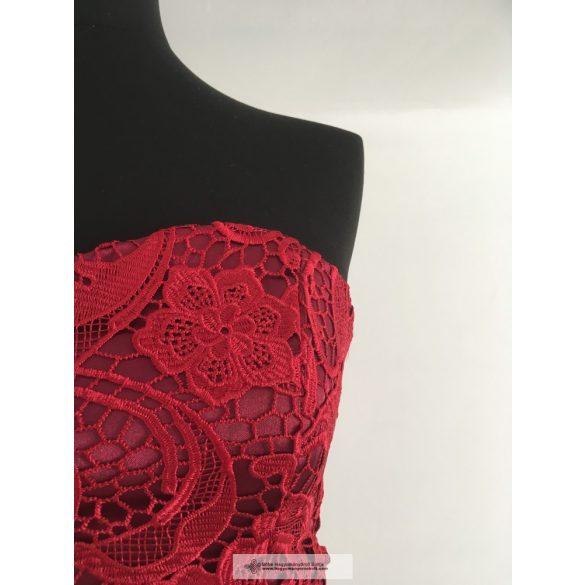 Bordó csipkés alkalmi ruha - Bettina