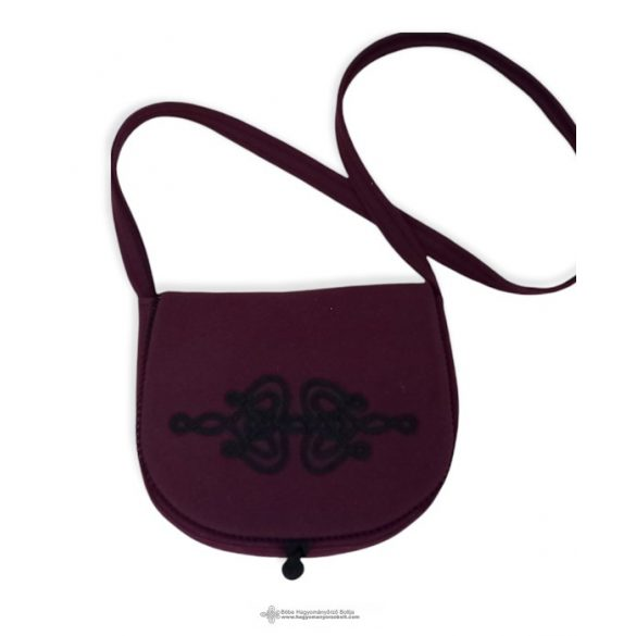 Black women bag with black decoration