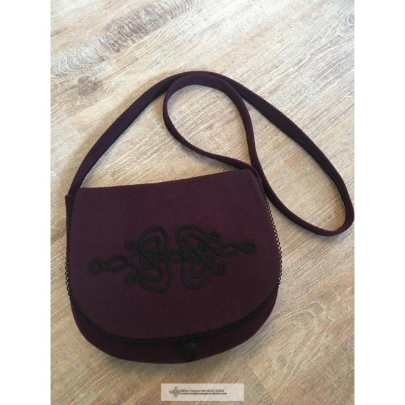 Bordó válltáska, kézműves táska