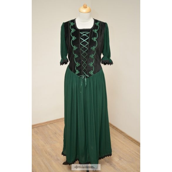 Női ruha-sötétzöld