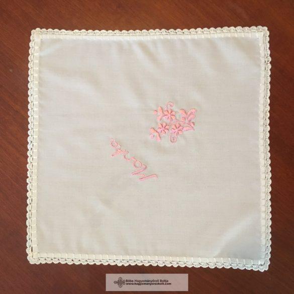 Keresztelő kendő-rózsaszín