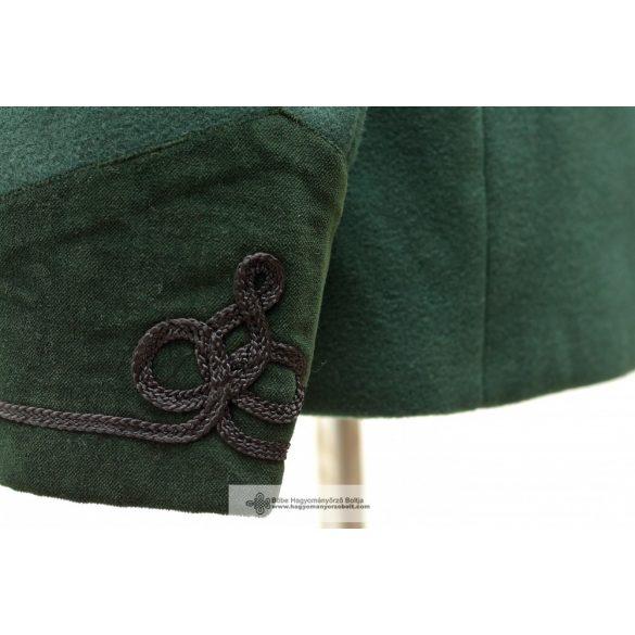 Bocskai, rövid női kabát- zöld
