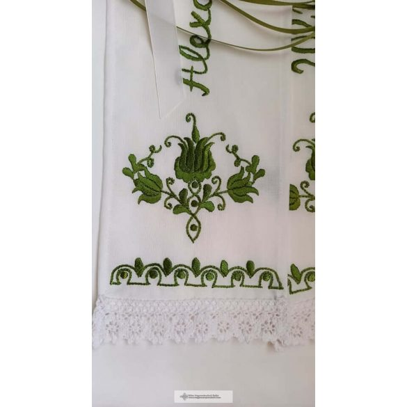 Vőfélyszalag-zöld hímzéssel