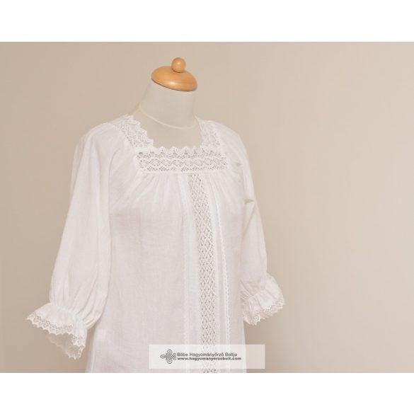 Csipkés fehér női blúz- Erzsó
