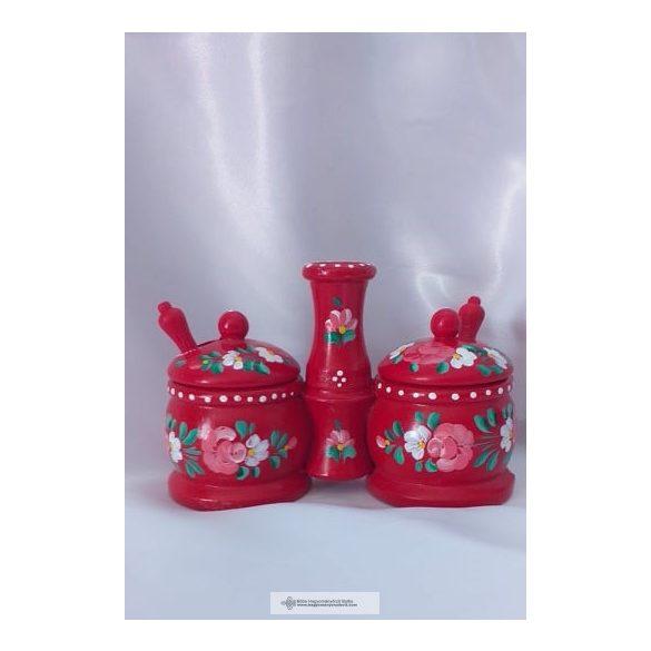 Magyarlak- Fűszertartó piros