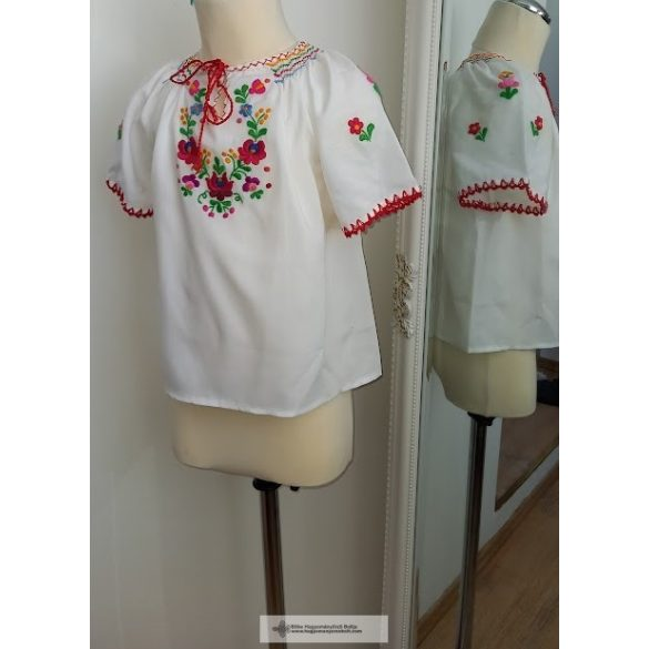 Little girl's blouse-embroidered, matyo pattern