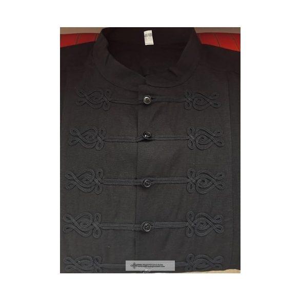 Rövid ujjú fekete bocskai ing