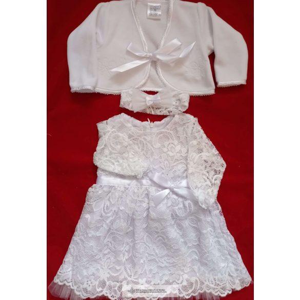 Keresztelő ruha, három részes