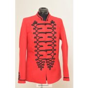 Bocskai, rövid női kabát- piros