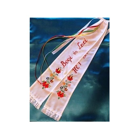 Unique embroidered wedding ribbon