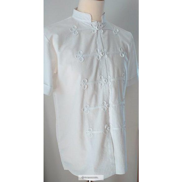 Rövid ujjú bocskai ing, fehér
