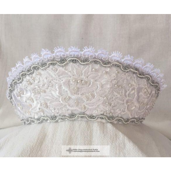 Menyasszonyi párta-ezüstös díszítéssel
