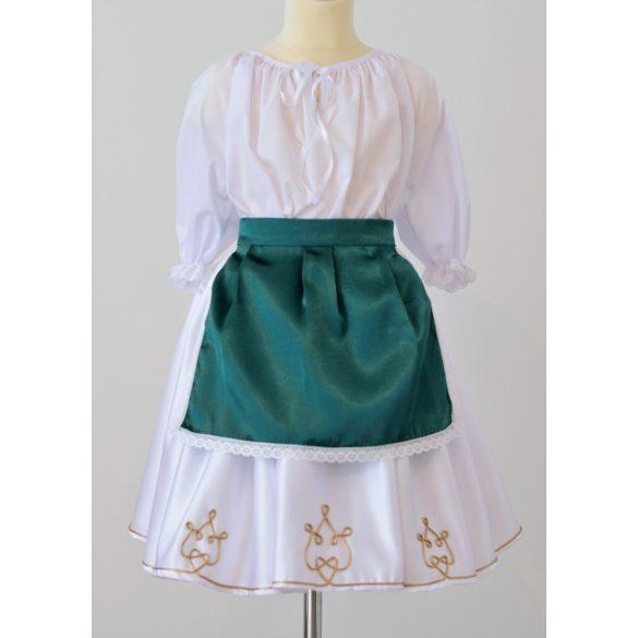 Kislány ruha együttes, zsinóros szoknyával