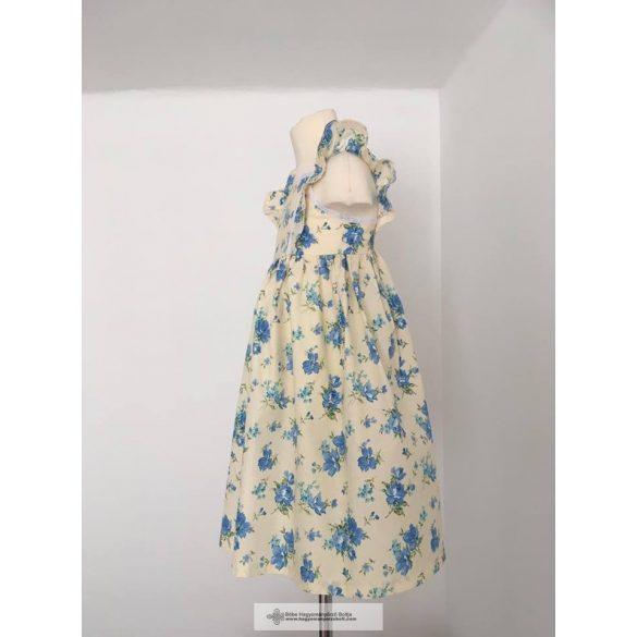 Kislány ruha- kék mintákkal