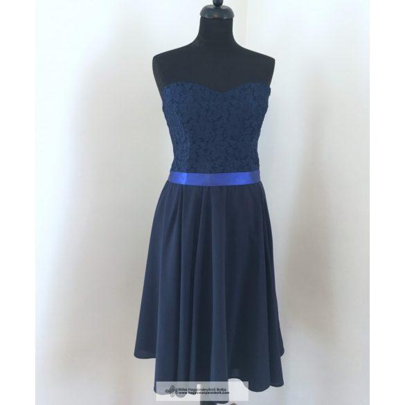 Kék csipkés alkalmi ruha: tündEszter