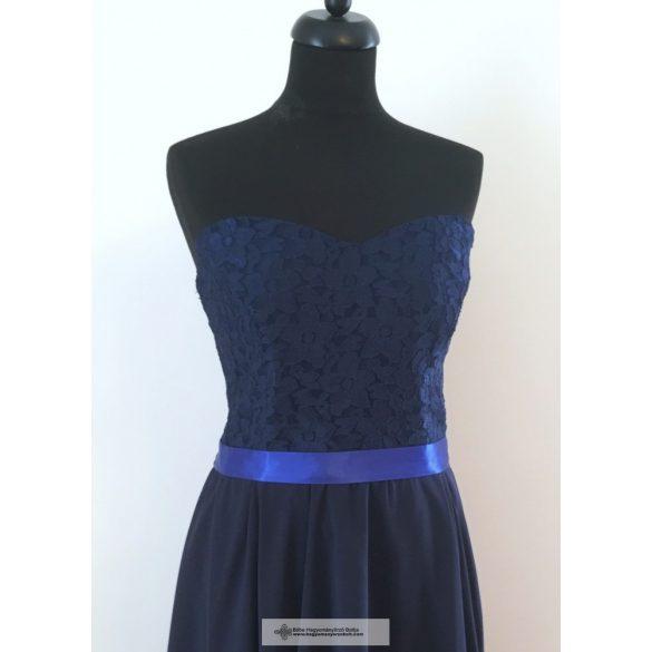 7e3cc62aa4 Kék csipkés alkalmi ruha: tündEszter - Hagyományőrző Bolt