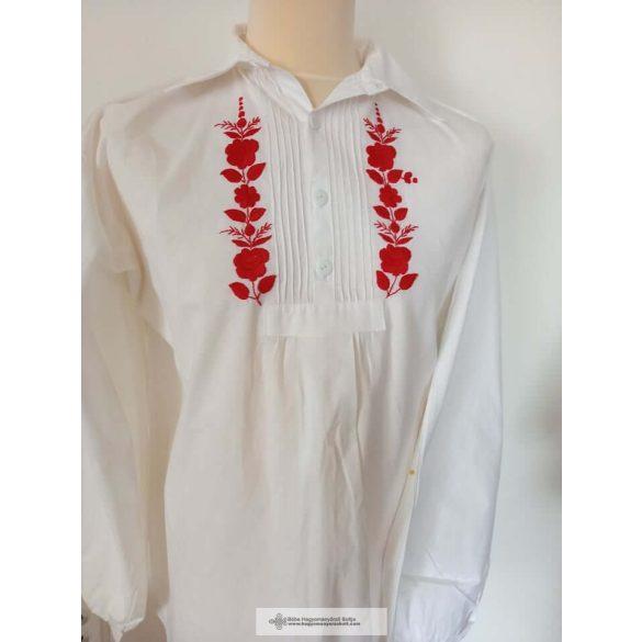 Hímzett ing, piros hímzéssel