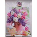 Ajándéktasak-tavaszi virágcsokor