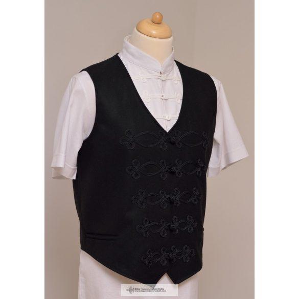 Hungarian men's vest, black