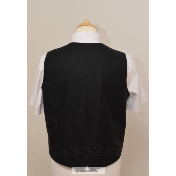Hungarian men's vest, black