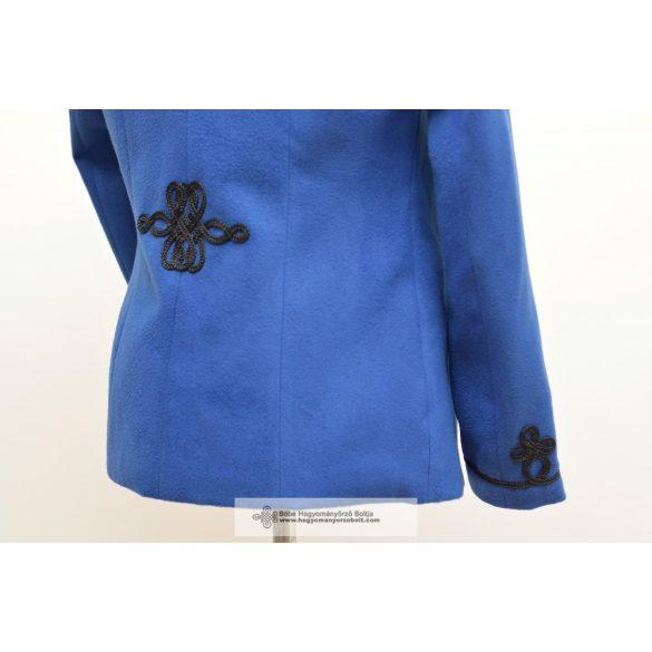 Bocskai, rövid női kabát- kék