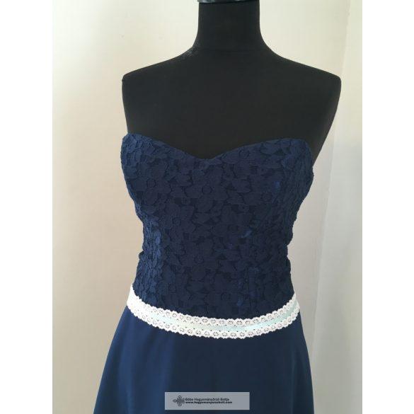 Kék csipkés alkalmi ruha - Helga