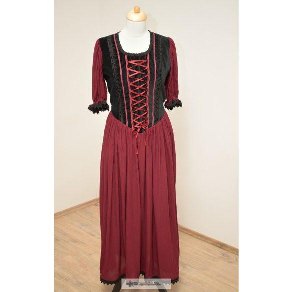 Női ruha-Bordó- csipkés