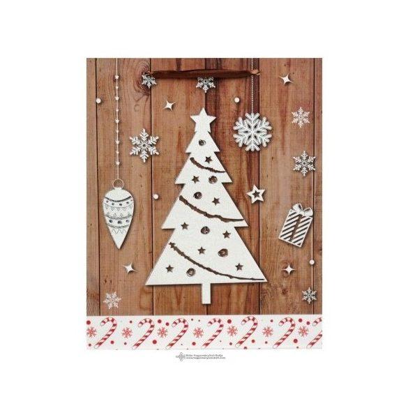 Karácsonyi ajándéktasak-fenyő
