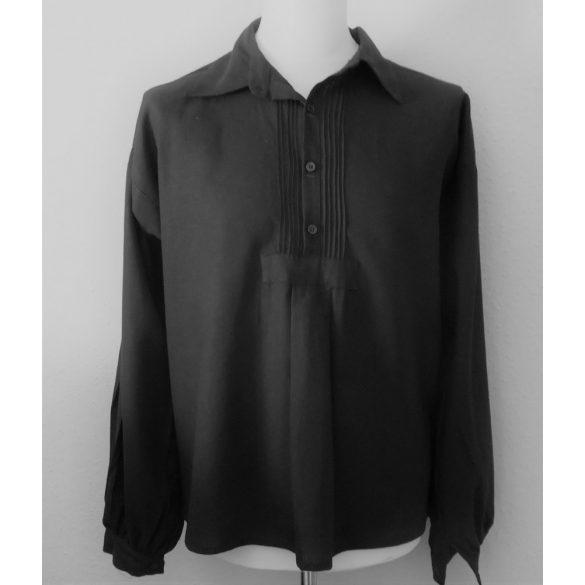 Black peasant shirt