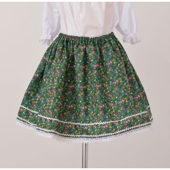 Little girl skirt-green pattern