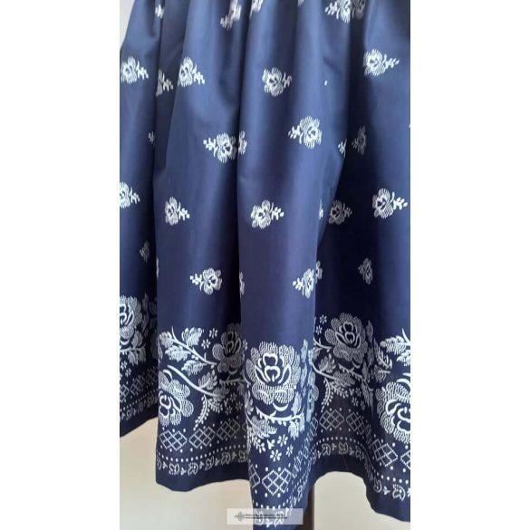 Néptáncos szoknya-kék-bordűrös