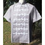 Gray bocskai shirt with short sleeves