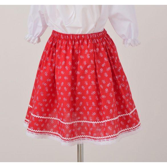 Kislány szoknya- piros