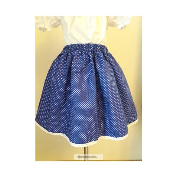 Kislány szoknya pöttyös- kék