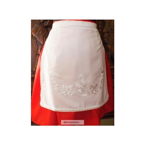 Hungarian Embroidered apron and white embroidery