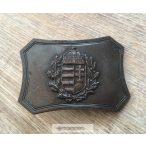 Címeres övcsat, bronz