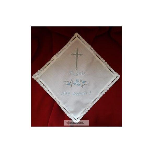 Keresztelő kendő kereszttel, névre szóló