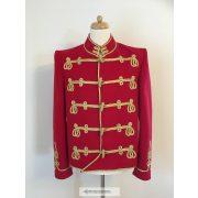 Huszár kabát, piros