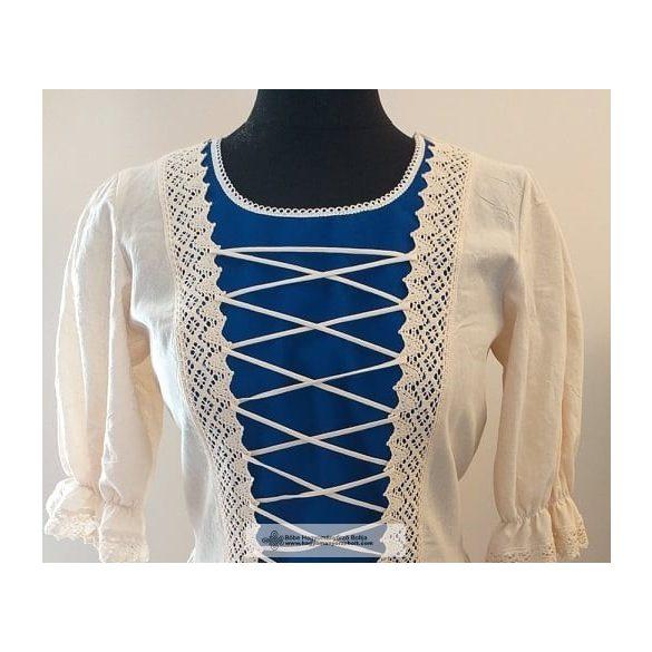 Rusztikus ruha-kék