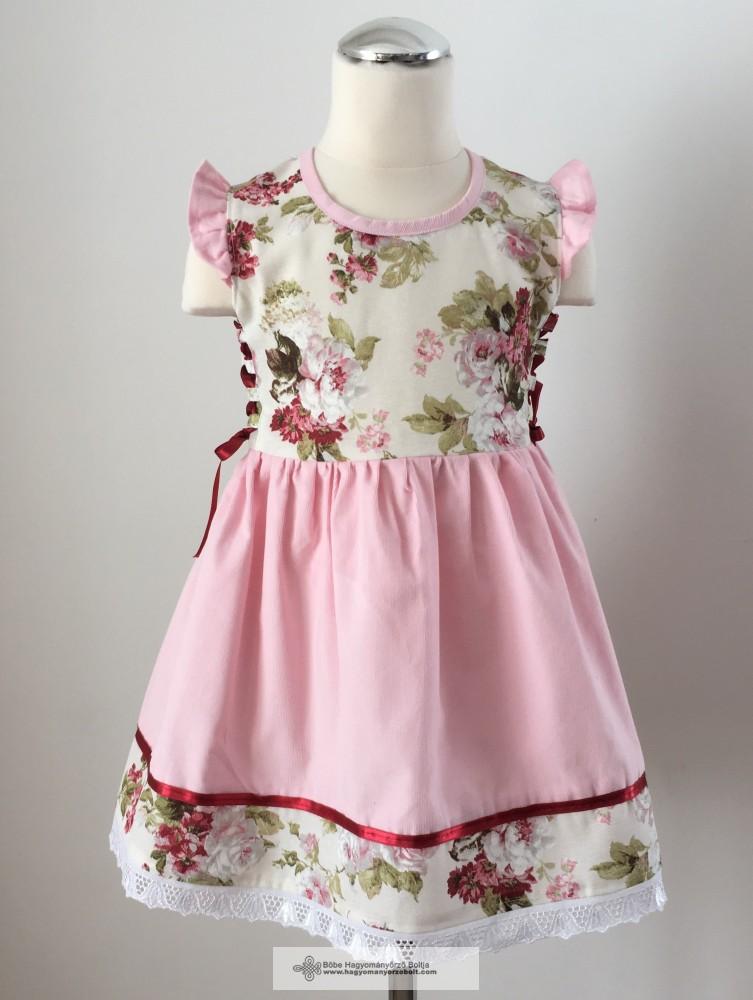 911448d71b Kislány ruha, virágos - Hagyományőrző Bolt