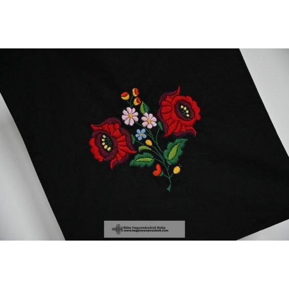 Hímzett vászontáska-fekete-2