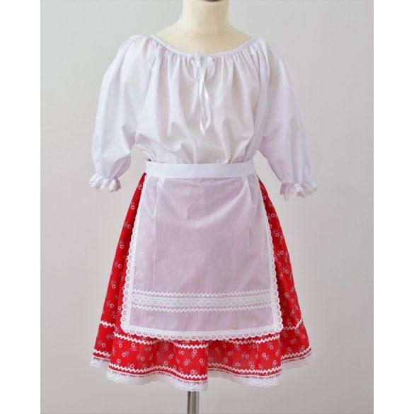 Kislány ruha együttes, piros szoknyával