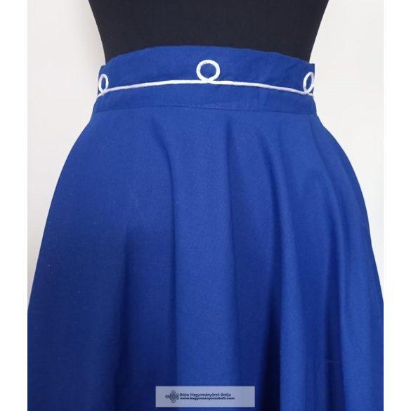 Lovagló szoknya- kék-2