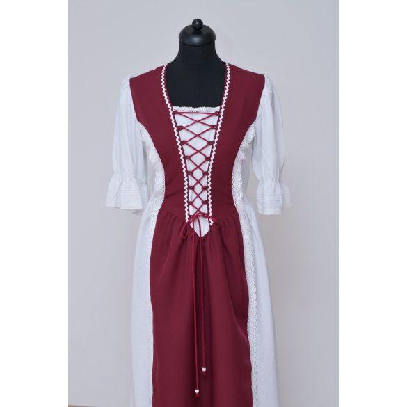 Női fűzős lenvászon ruha
