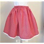 Kislány szoknya pöttyös- piros